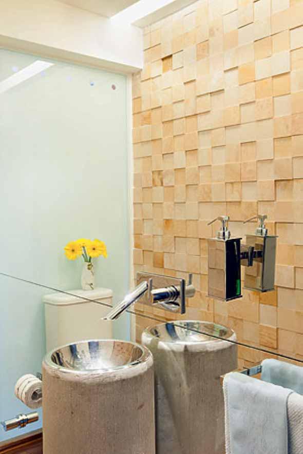 Revestimento de pedras para o banheiro 017
