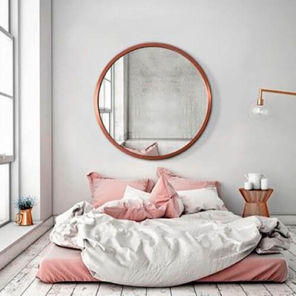 Modelos de espelhos redondos na decoração 003