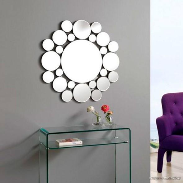 Modelos de espelhos redondos na decoração 007