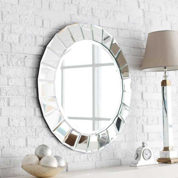 Modelos de espelhos redondos na decoração 010