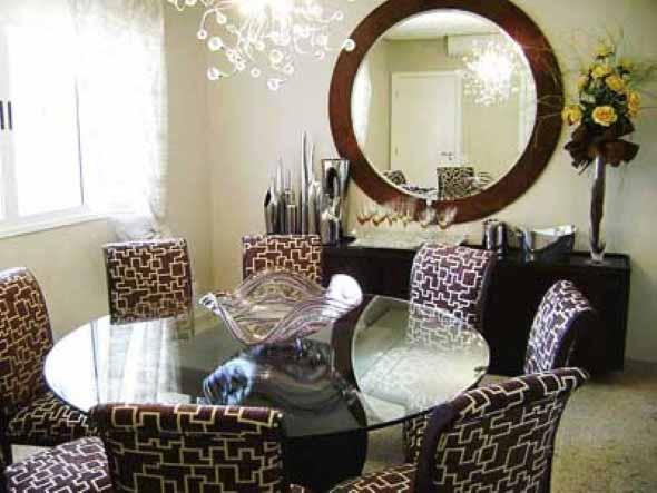 Modelos de espelhos redondos na decoração 011