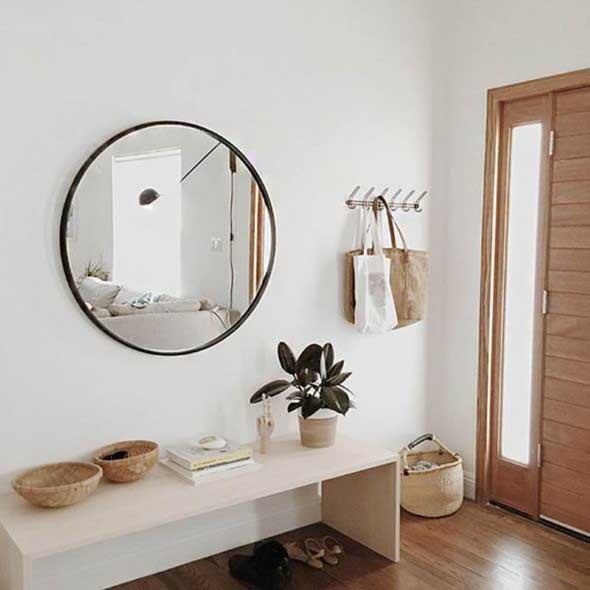 Modelos de espelhos redondos na decoração 016