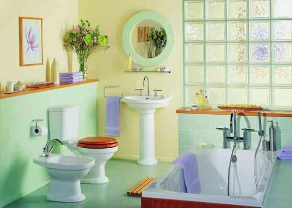 Tijolos de vidro na decoração do banheiro 006