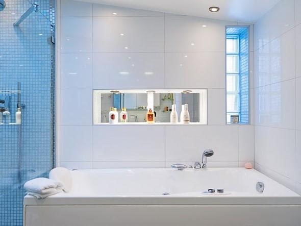 Tijolos de vidro na decoração do banheiro 011