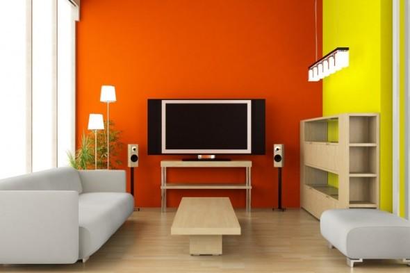 Decorar a sala com tons laranjas e vermelhos 005
