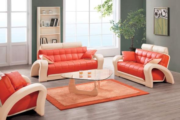 Decorar a sala com tons laranjas e vermelhos 009