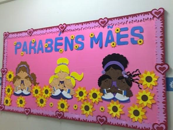 Decoração sala de aula Dia das Mães 003