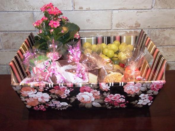 Montar e decorar cesta para o Dia das Mães 006
