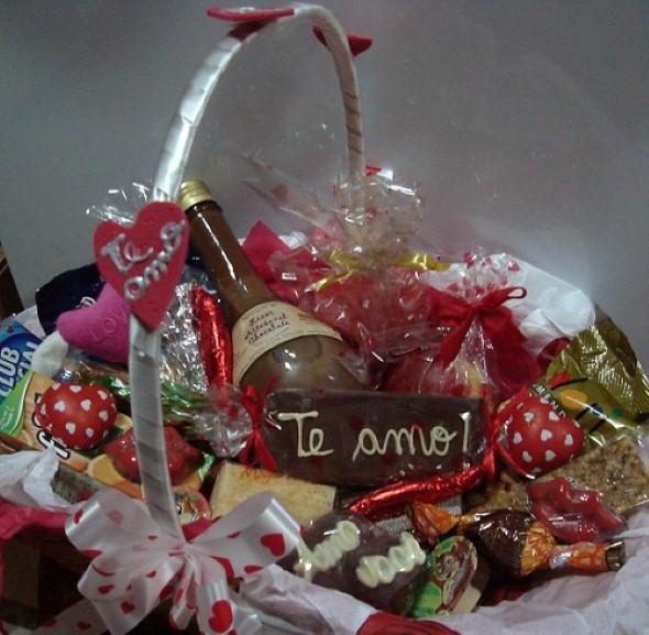 Decoração de cesta para o Dia dos Namorados 008