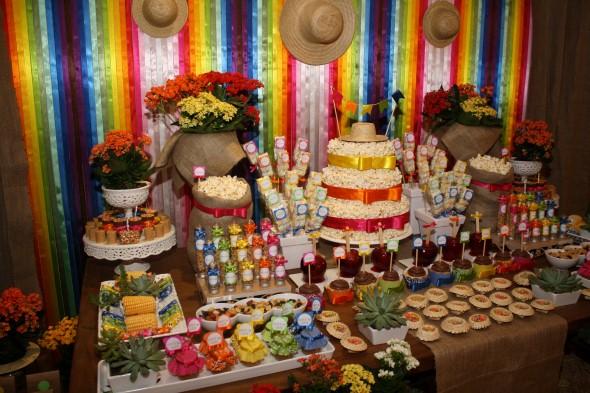 Decoração mesa Festa Junina 003