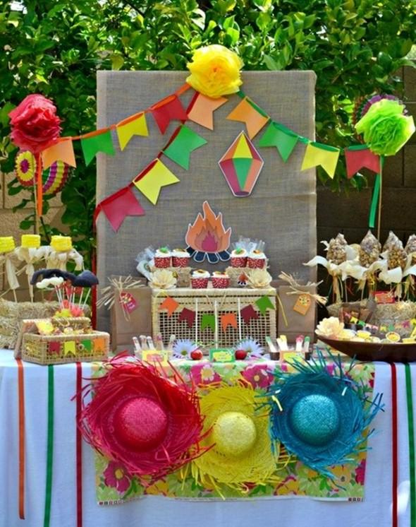 21 idéias de decoraç u00e3o de mesa para Festa Junina # Decoração De Mesa De Festa Junina Infantil