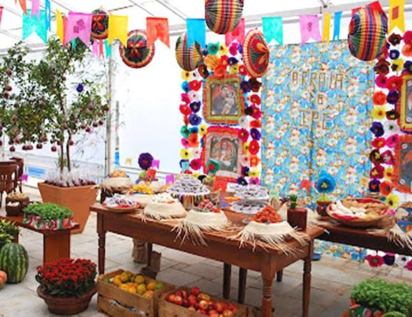 Decoração mesa Festa Junina 009