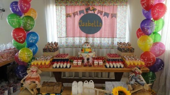 Festa de aniversário com tema junino 003