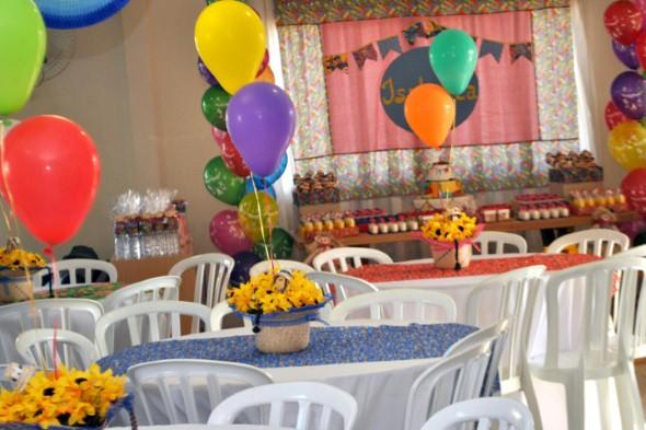 Festa de aniversário com tema junino 013