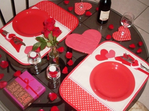 Mesa de jantar Dia dos Namorados 006