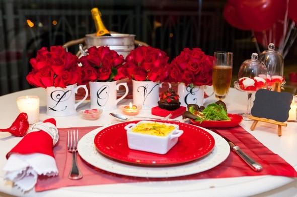 Mesa de jantar Dia dos Namorados 011
