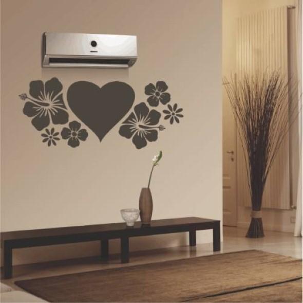 Casa decorada com adesivos personalizados 001