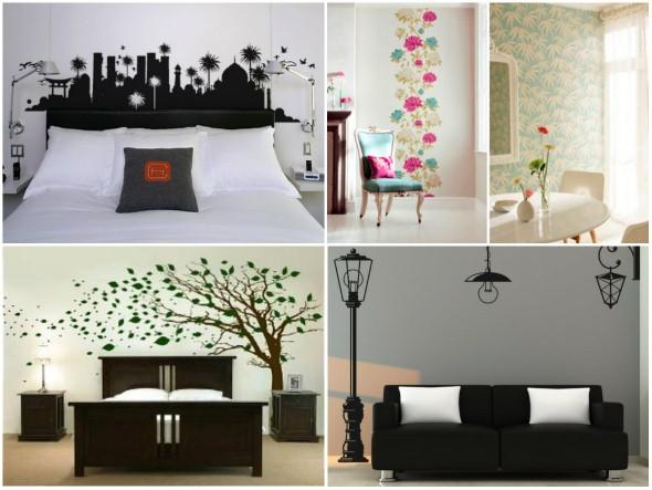 Casa decorada com adesivos personalizados 002