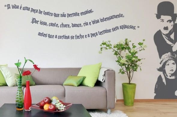 Casa decorada com adesivos personalizados 003