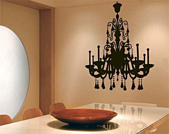 Casa decorada com adesivos personalizados 006