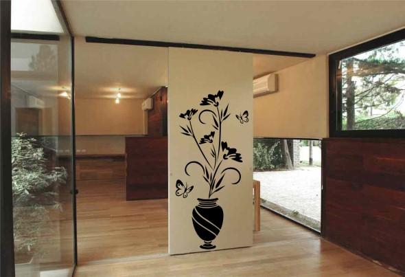 Casa decorada com adesivos personalizados 007