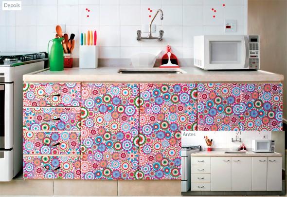 Casa decorada com adesivos personalizados 012