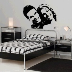 Casa decorada com adesivos personalizados 013