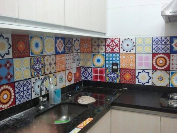 Casa decorada com adesivos personalizados 014