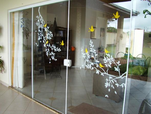 Casa decorada com adesivos personalizados 015