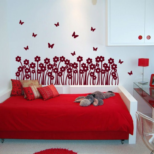 Casa decorada com adesivos personalizados 017