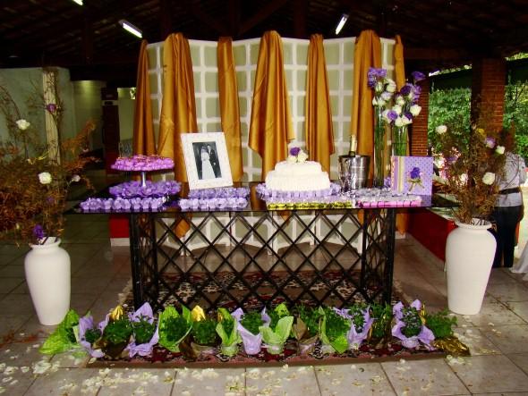Decoração para festa de bodas de ouro 007