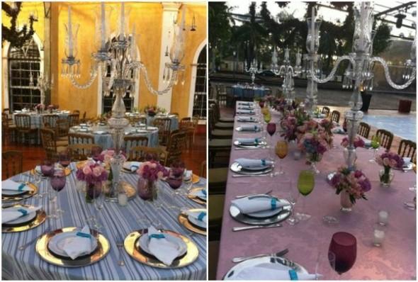 Decoração para festa de bodas de ouro 010