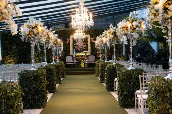 Decoração para festa de bodas de ouro 016
