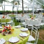 Decoração para festa de casamento de manhã 001