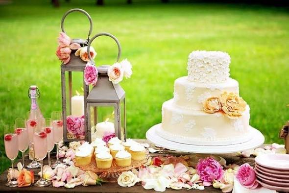 Decoração para festa de casamento de manhã 003