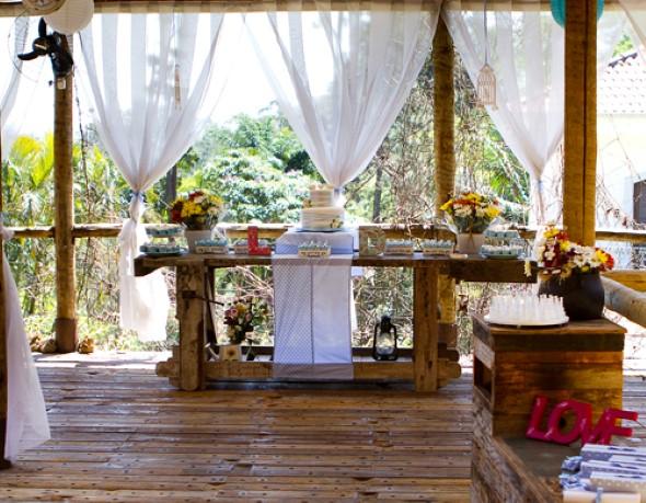 Decoração para festa de casamento de manhã 005