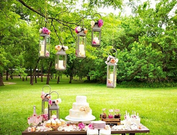 Decoração para festa de casamento de manhã 006