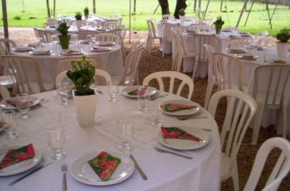 Decoração para festa de casamento de manhã 008