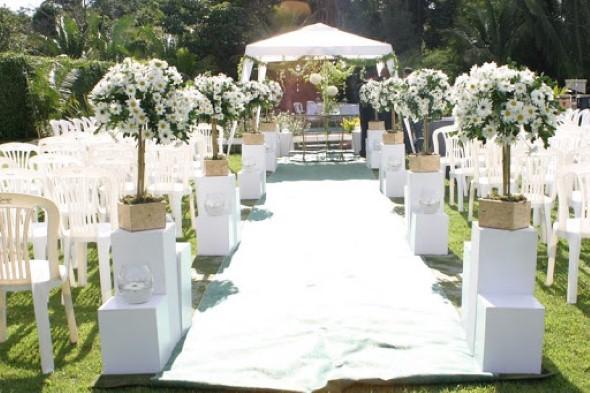 Decoração para festa de casamento de manhã 009
