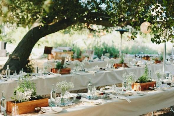 Decoração para festa de casamento de manhã 010