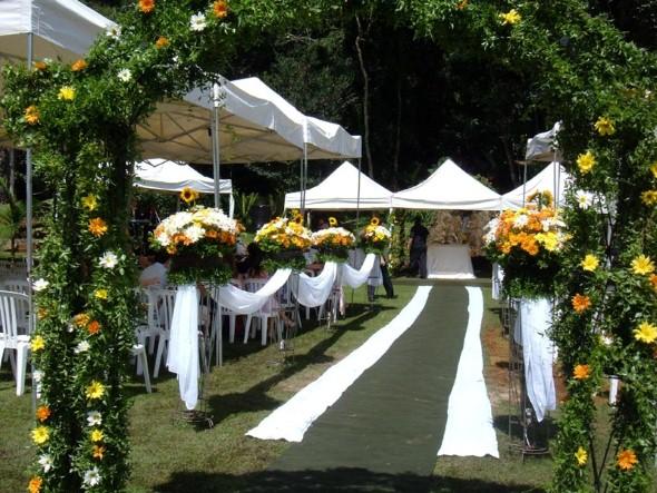 Decoração para festa de casamento de manhã 014