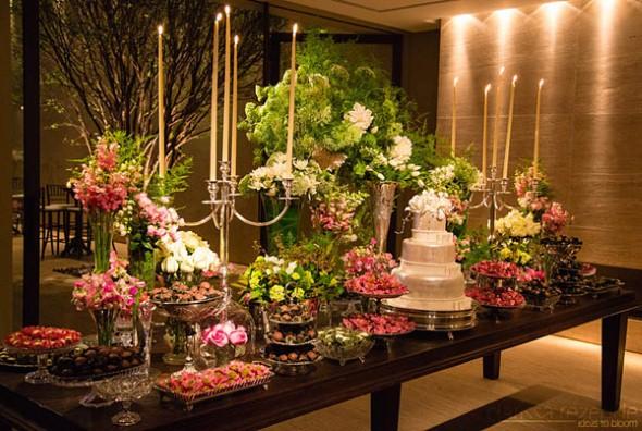 Decoração para festa de casamento de noite 002