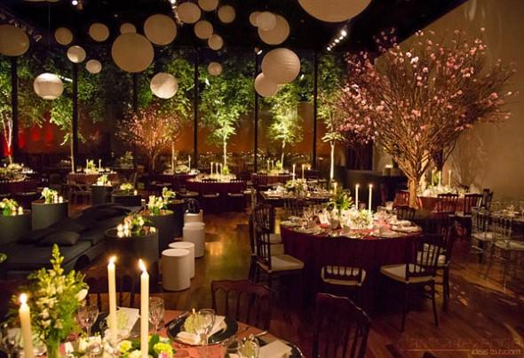 Decoração para festa de casamento de noite 004