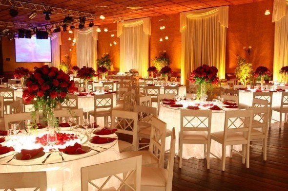 Decoração para festa de casamento de noite 006