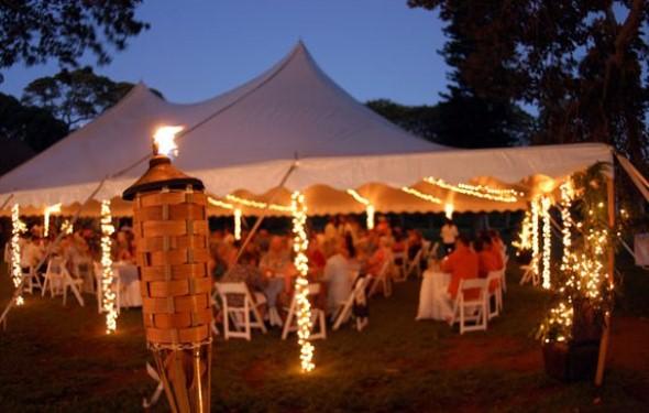 Decoração para festa de casamento de noite 007