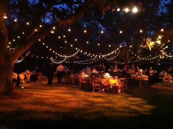Decoração para festa de casamento de noite 008
