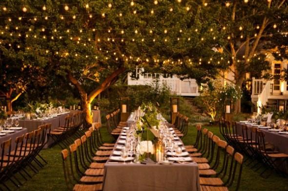 Decoração para festa de casamento de noite 010