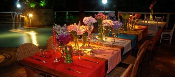 Decoração para festa de casamento de noite 011