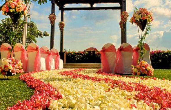 Decoração para festa de casamento de tarde 006