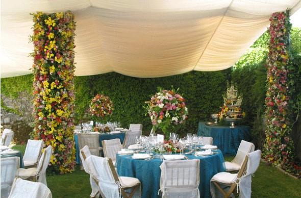 Decoração para festa de casamento de tarde 007